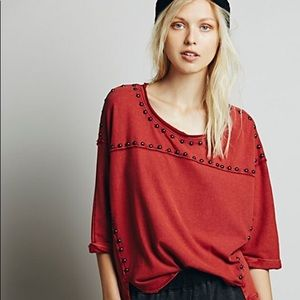Free People studded Dillon top